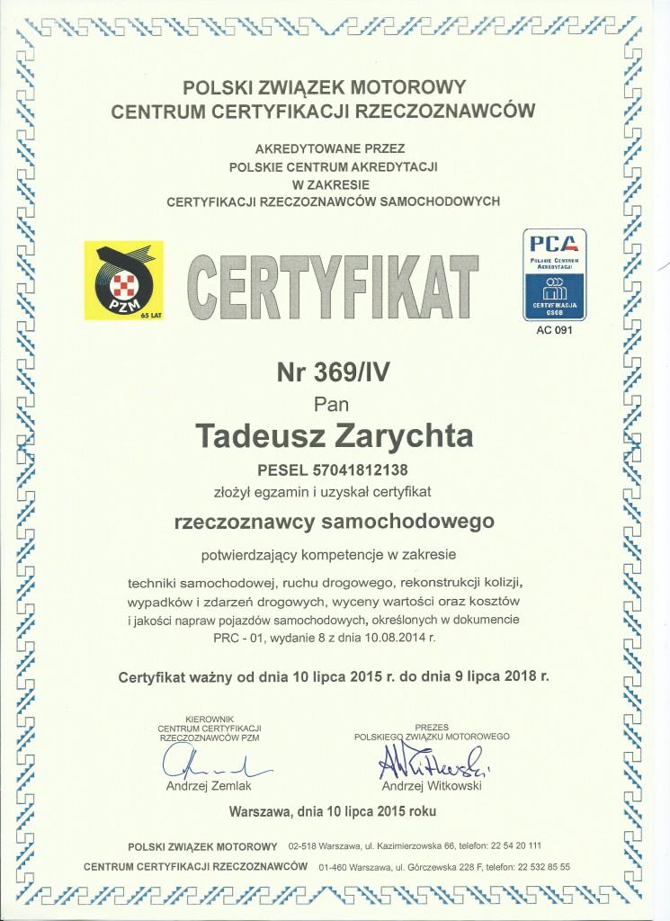 certyfikat PZM.